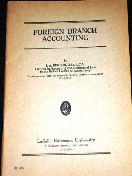Image for Foreign Branch Accounting