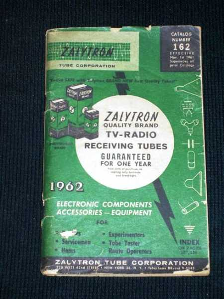 Image for Zalytron Quality Brand TV-Radio Receiving Tubes Catalog