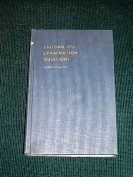Image for Uniform CPA Examination Questions:  May 1966 to November 1968
