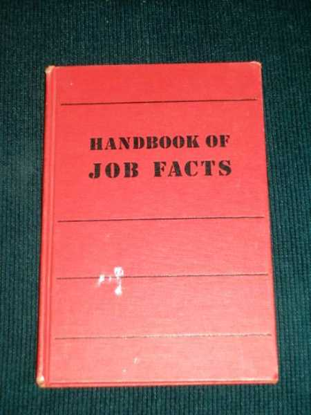 Image for Handbook of Job Facts