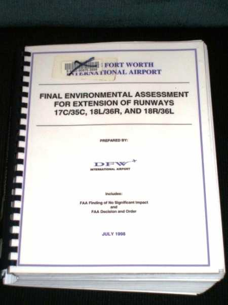 Image for Final Environmental Assessment for Extension of Runways 17C/35C, 18L/36R, and 18R/36L