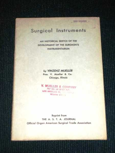 Image for Surgical Instruments:  An Historical Sketch