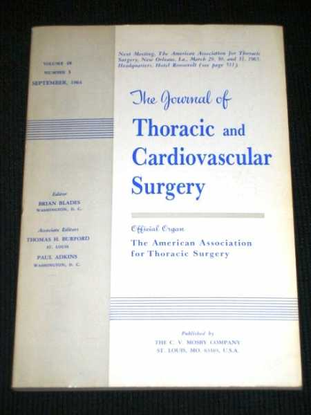 Image for Journal of Thoracic and Cardiovascular Surgery, The:  Volume 48, Number 3, September, 1964