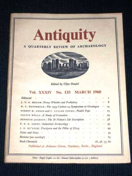 Image for Antiquity - A Quarterly Review of Archaeology - March 1960
