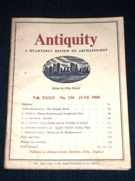 Image for Antiquity - A Quarterly Review of Archaeology - June 1960