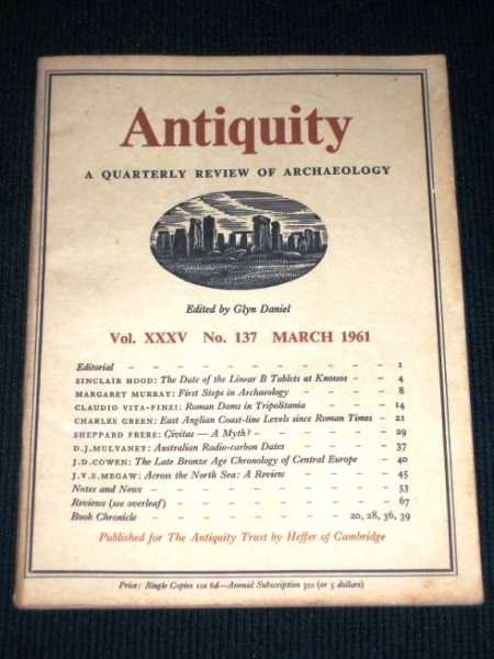 Image for Antiquity - A Quarterly Review of Archaeology - March 1961