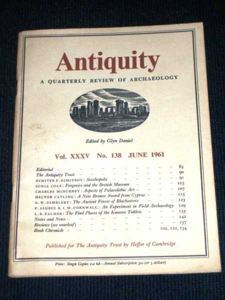 Image for Antiquity - A Quarterly Review of Archaeology - June 1961