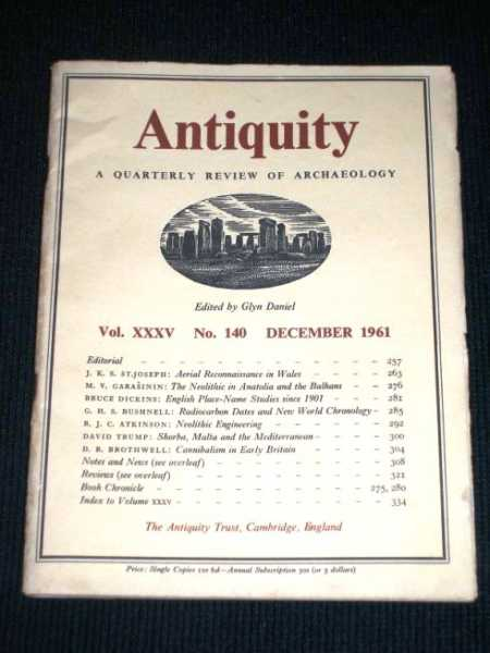 Image for Antiquity - A Quarterly Review of Archaeology - December 1961