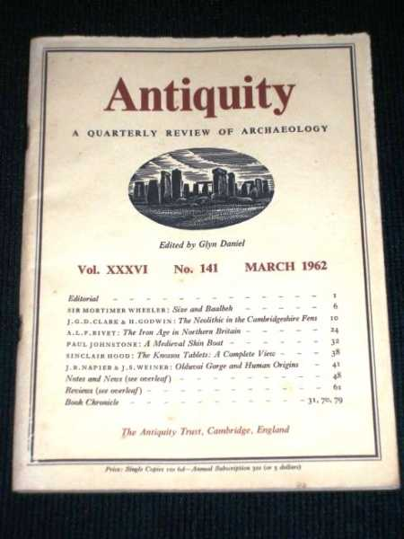 Image for Antiquity - A Quarterly Review of Archaeology - March 1962