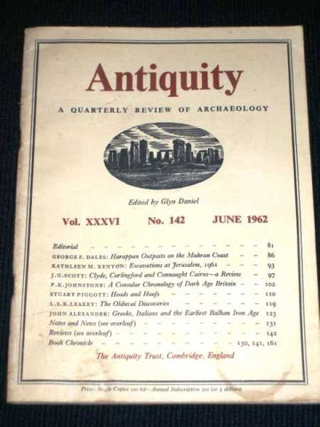 Image for Antiquity - A Quarterly Review of Archaeology - June 1962