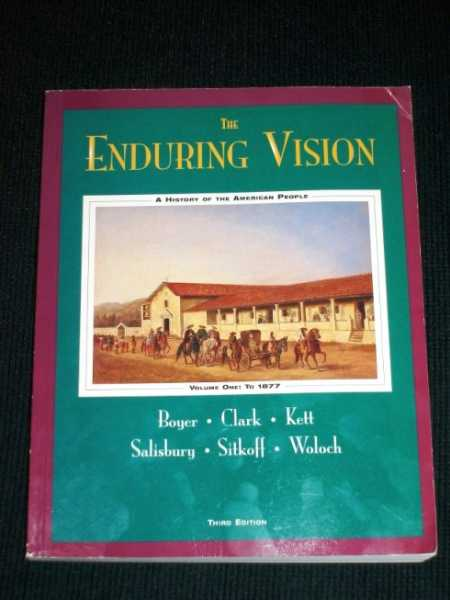 Image for Enduring Vision: A History Of The American People To 1877
