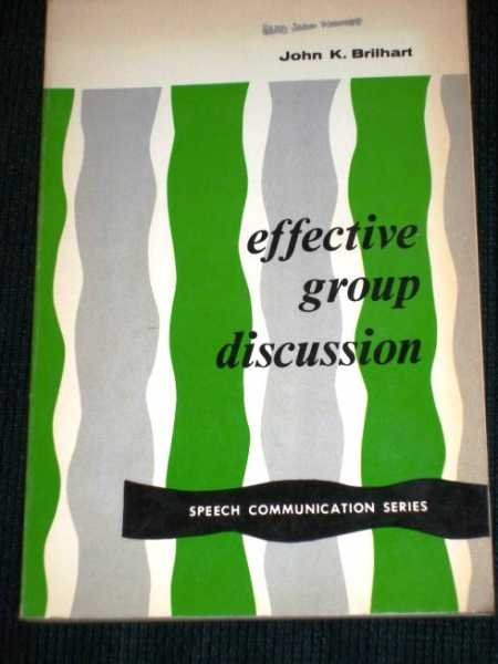 Image for Effective Group Discussion (Speech Communication Series)