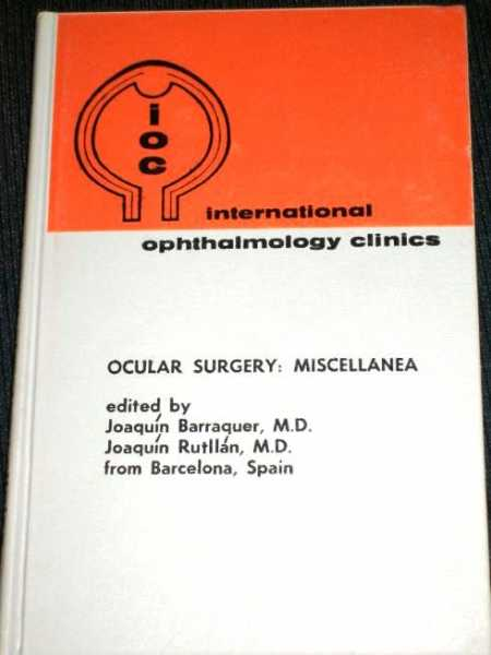 Image for Ocular Surgery:  Miscellanea