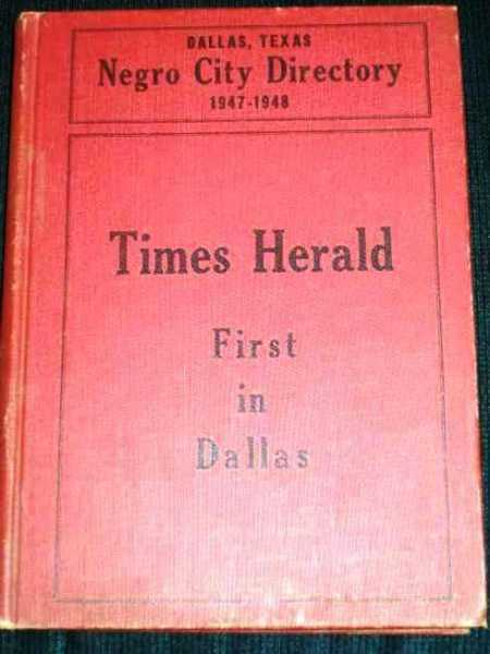 Image for Negro City Directory - Dallas, Texas 1947-1948