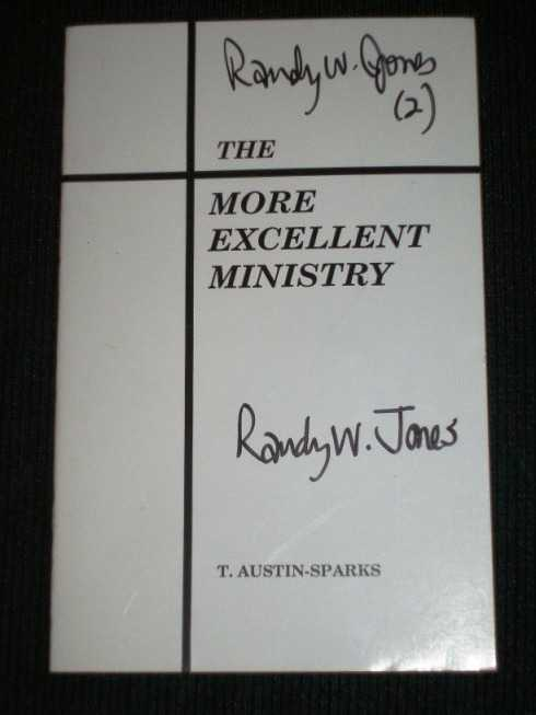 Image for More Excellent Ministry, The
