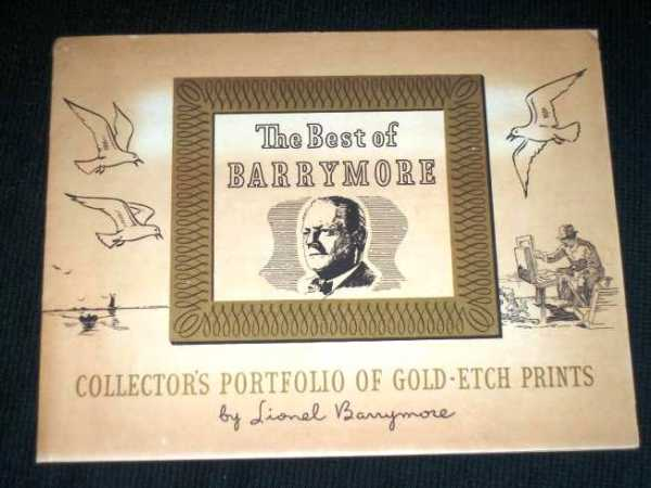 "Image for Collector's Portfolio of Gold-Etch Prints (""The Best of Barrymore"")"