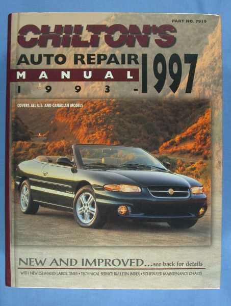 Image for Chilton's Automobile Repair Manual 1993 - 1997