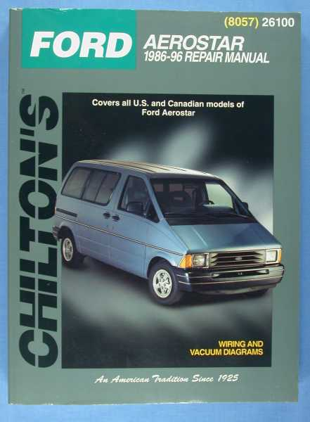 Image for Chilton's Ford Aerostar1986-96 Repair Manual (8057) 26100