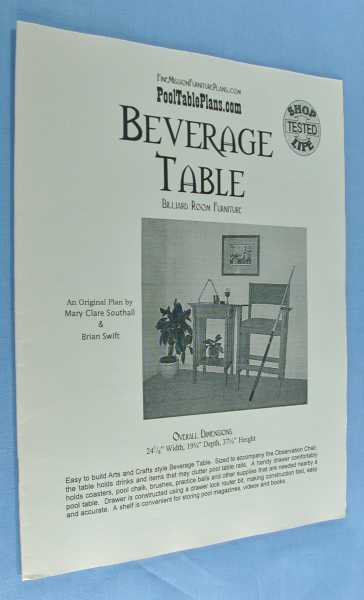 Image for Beverage Table (Billiard Room Furniture)