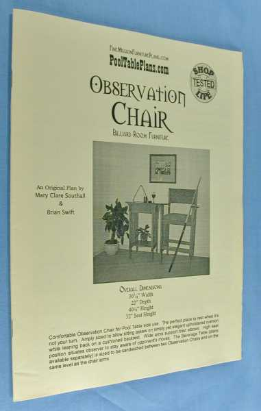 Image for Observation Chair ( Billiard Room Furniture)