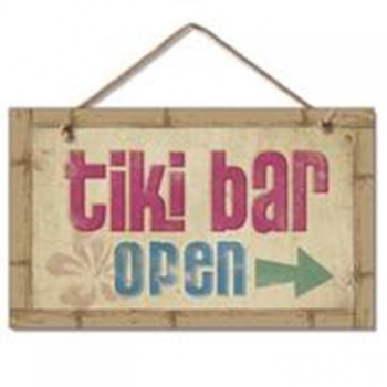 Image for Tiki Bar is Open Sign